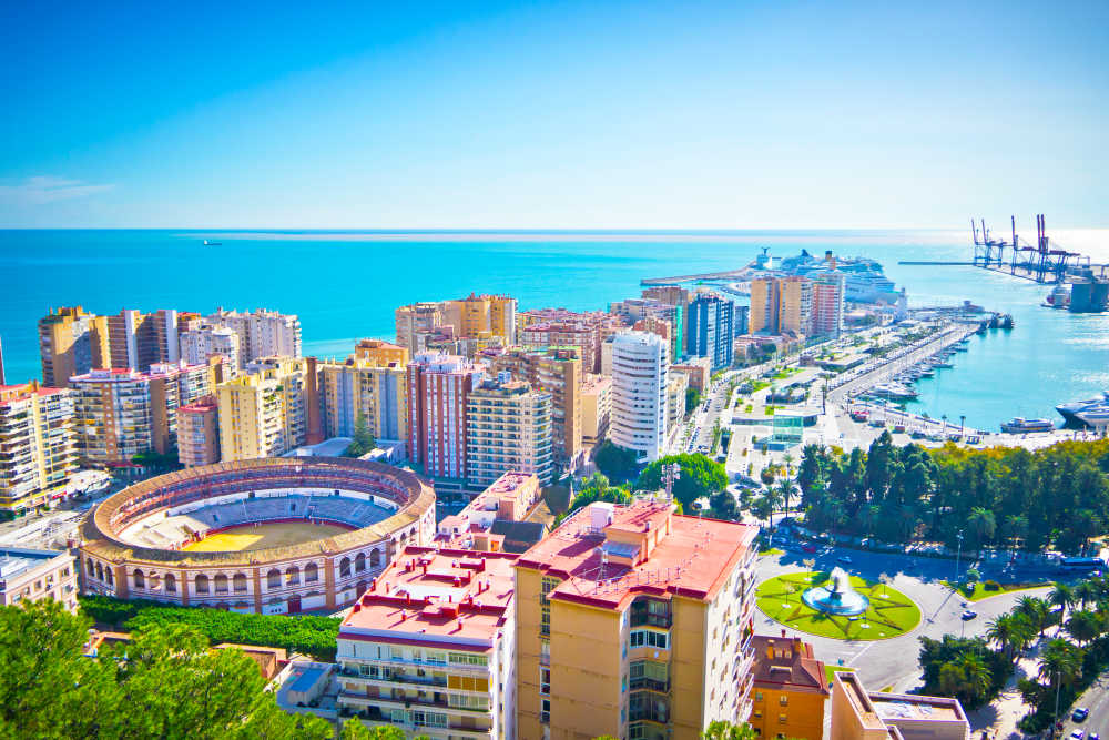 Málaga cityview spain costa del sol